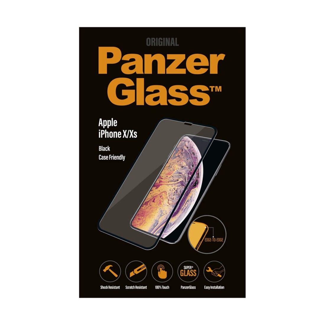 PanzerGlass Apple iPhone X / Xs - Black - Case Friendly