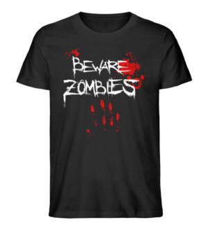 Beware Zombies - Men Premium Organic Shirt-16