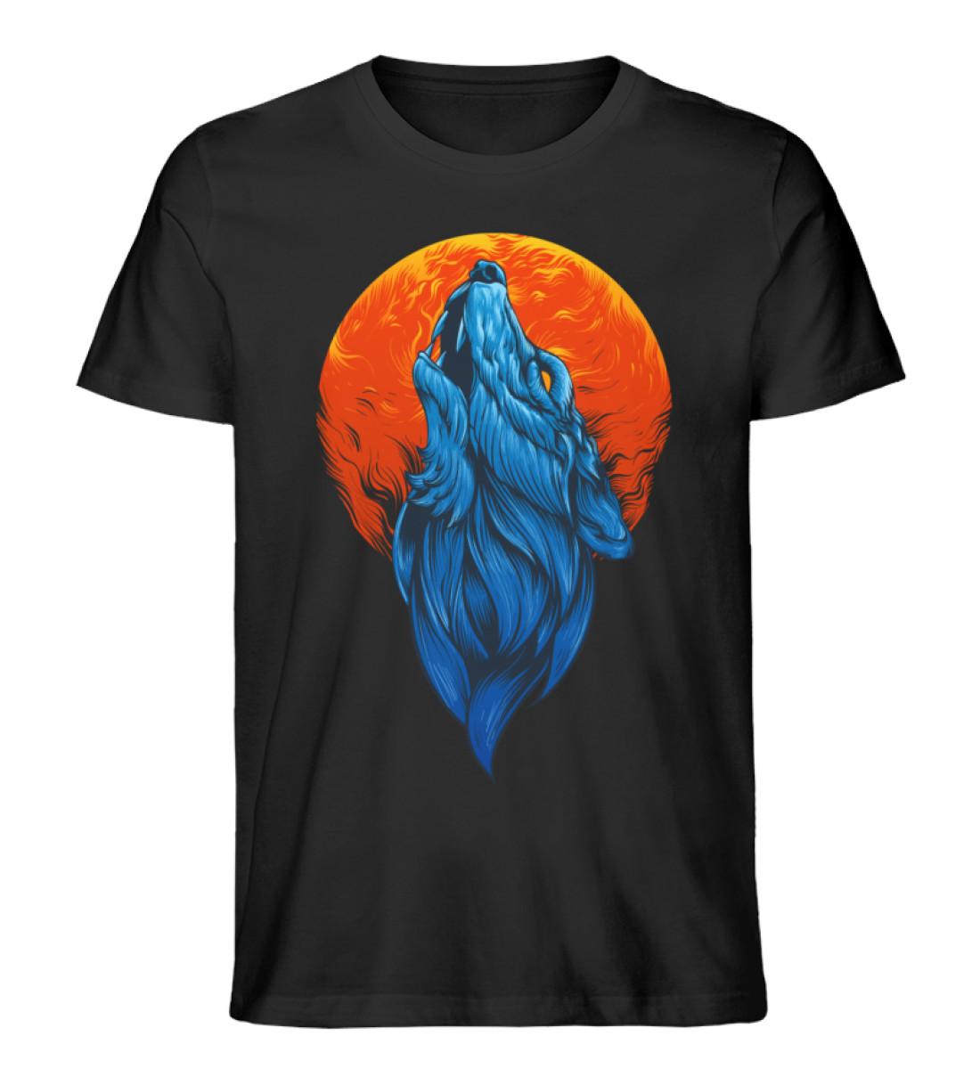 Howling Wolf - Men Premium Organic Shirt-16