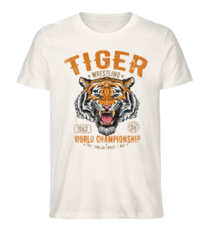 Tiger Wrestling - Men Premium Organic Shirt-6881