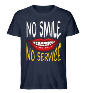 No Smile No Service - Men Premium Organic Shirt-6887