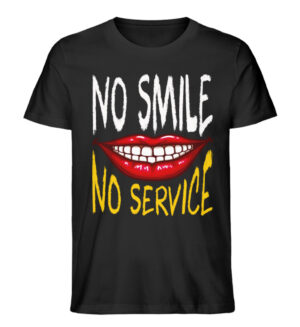 No Smile No Service - Men Premium Organic Shirt-16