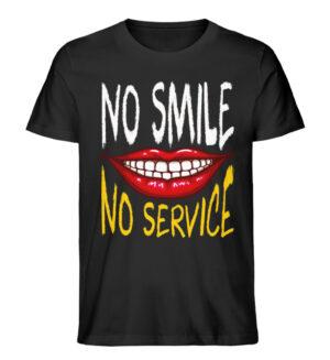 No Smile No Service - Men Premium Organic Shirt-16