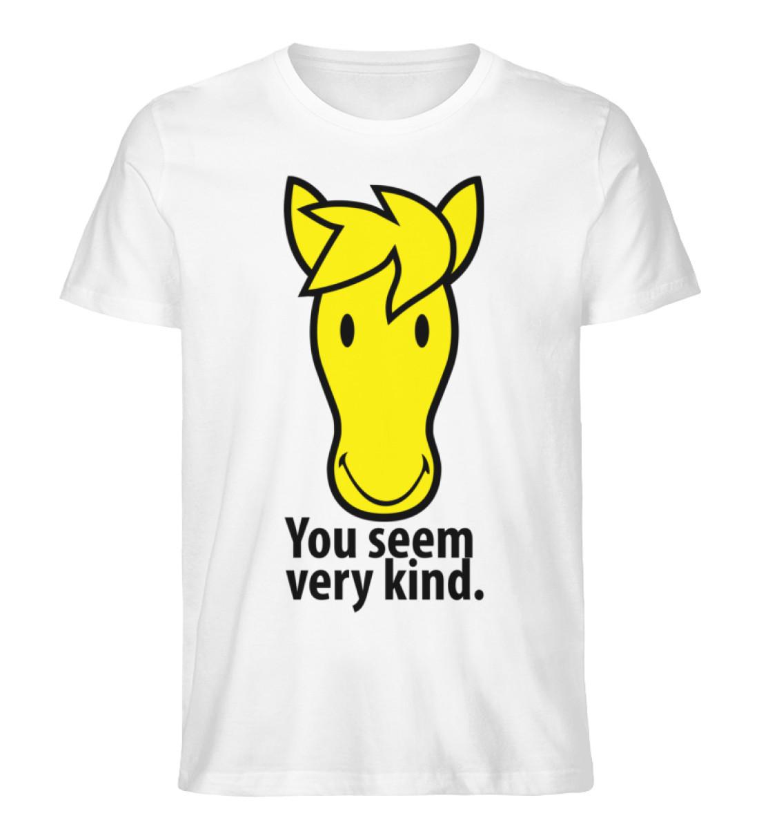 horse smiley - Men Premium Organic Shirt-3